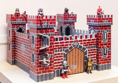 Kasteel met ridders